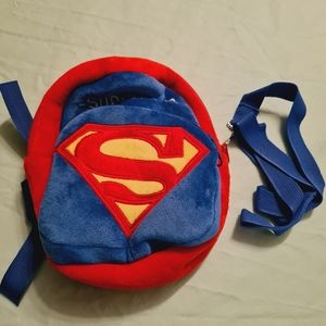 Backpack for Kids Superman Outdoor Bag with Leash